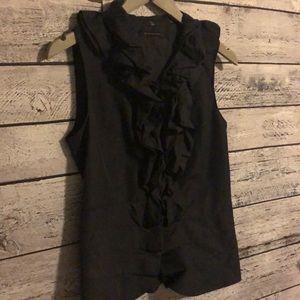 Sleeveless ruffle blouse Tahari